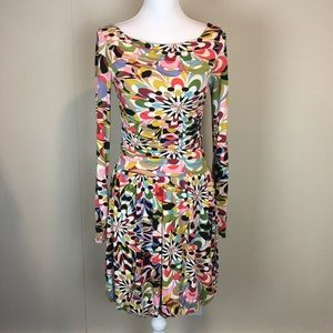 Leota Dress Size XS Multicolored Abstract Floral